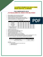 Promo a Isla Margarita Para Emitir Hasta El 23 de Marzo
