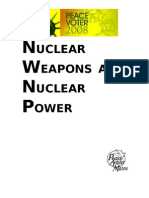 Nuclear Weapons and Nuclear Power