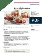 Original Pudding Mit Feigenragout