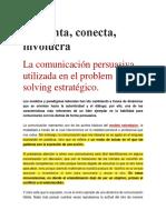Pregunta, Conecta, Involucra