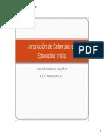 Ampliación de Cobertura en Educación Inicial