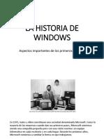 Historia de Sistema operativo Window's