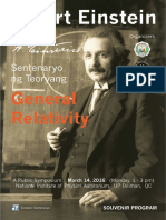 Einstein Sentenaryo Souvenir Program