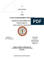 Ethics in Management Practices