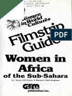 Filmstrip Guide Women in Africa