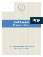 Congressman Honda's Small Business Resource Guide