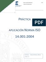 Practica Iso 14001 Ejercicio Aplicativo