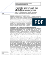 Corporate Power and Globalization Process