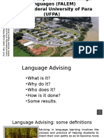 The practice of language advising at the Faculty of Modern Foreign Languages at The Federal University of Pará, Brazil.pptx