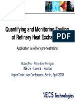 INEOS Quantifying Monitoring Fouling Refinery Heat Exchangers