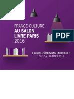 France Culture au salon Livre Paris 2016