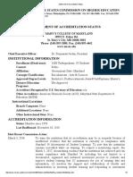 Statement of Accreditation Status