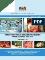KKM Cardiothoracic Operation Policy