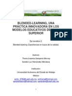Blended-learning Una Practica Innovadora en Los Modelos Educativos de Nivel Superior