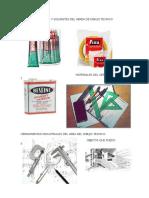 Adhesivo y Solventes Del Aerea de Dibujo Tecnico