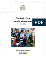 SCUSD Strategic Plan Needs Assessment