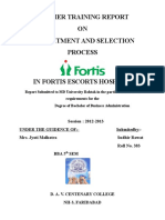 FORTIS recruitment & Selection.docx