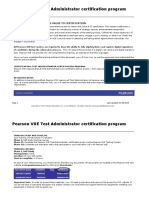 Pearson VUE TA Certification Program