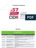 CIDH Calendario 157 Audiencias Es