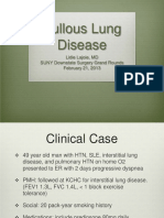 Bullous Lung Disease