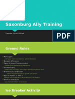 saxonburg ally training
