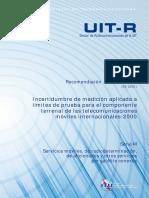 Incertidumbre de medición aplicada a los límites de prueba de las IMT-2000