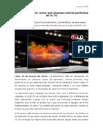 NP - Tecnología OLED única que alcanza colores perfectos en la TV