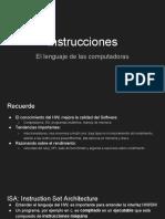 Instrucciones- El Lenguaje de Las Computadoras