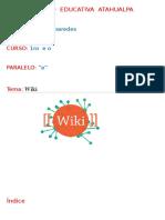 Unidad Educativa Atahualpa informe de Wiki