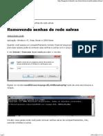 Removendo Credenciais de Redes Salvas no computador