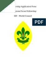 Isf Membership Application