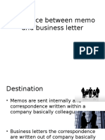 Difference Between Memo and Business Letter