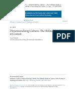 Dimensionalizing Cultures