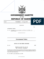 Local Authorities Act, 1992 (Act 23 of 1992), of Namibia