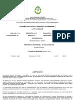 2016, Dutari Dutari - Programa Didáctico