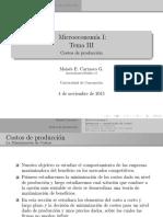 III. Costos de Producción