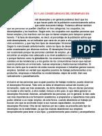 Analisis de Las Causas y Las Consecuencias Del Desempleo en Colombia
