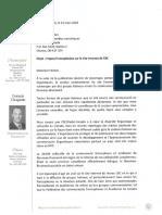 Lettre du député fédéral François Choquette à Brodie Fenlon de CBC