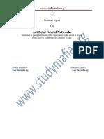 CSE Artificial Neural Networks Report