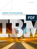 Analytics - The Speed Advantage