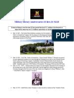 Military History Anniversaries 0316 Thru 033116