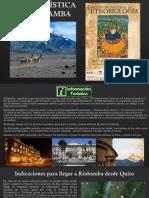 Guía Turística de Riobamba - ENCUENTRO ETNOBIOLOGÍA