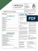 Boletín Oficial de la República Argentina, Número 33.336. 14 de marzo de 2016