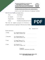 Surat Bebas Laboratorium Mipa