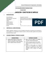 Organizacion y Const de Empresas 2015-i
