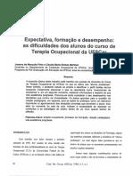 Formação terapeuta ocupacional - artigo de 1988