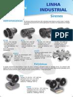 Sinalização e Sirenes Industriais Sistema de Incêndio