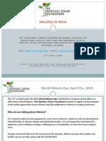 World Malaria Day - The Shantanu Tomar Foundation