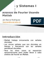 Análisis de Fourier Usando Matlab