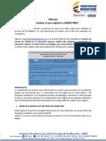 Manual de Pre Registro Saber Pro 20161
